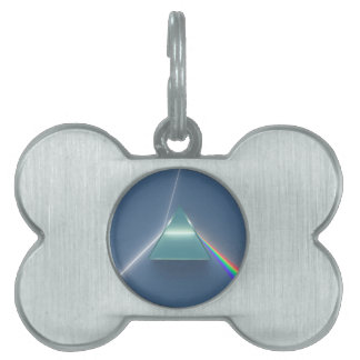 Optic Prism Refracting and Reflecting Light Pet Tag