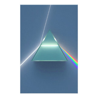 Optic Prism Refracting and Reflecting Light Stationery