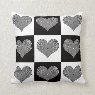 Optical Hearts Pillow
