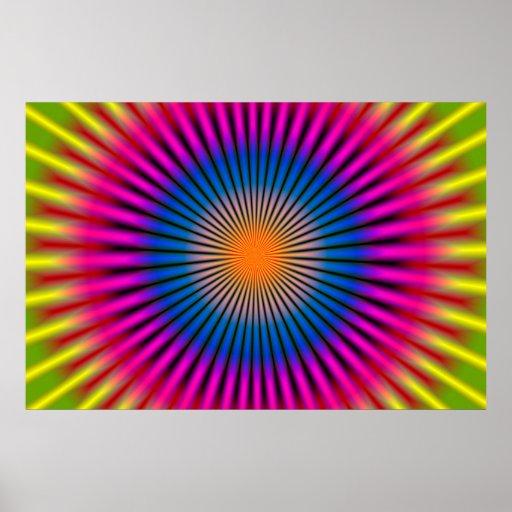 OPTICAL HYPNO DISC RECTANGULAR POSTERS
