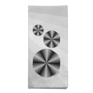 Optical Illusion Black Napkin