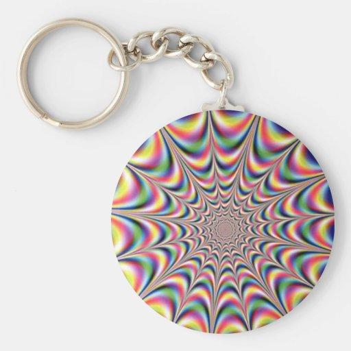 optical illusion keyring keychains
