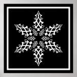 Optical Illusion Snowflake Christmas Elegant Print