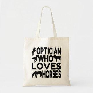 Optician Who Loves Horses Tote Bag