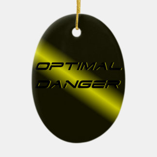 OPTIMAL DANGER. CERAMIC OVAL DECORATION