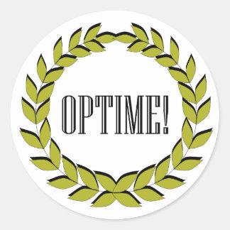 Optime! Excellent job! Classic Round Sticker