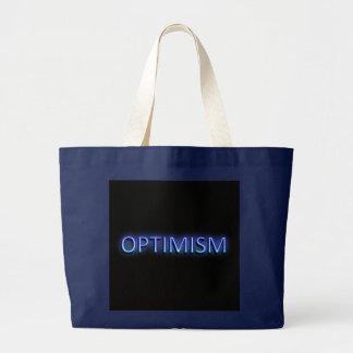 Optimism concept. large tote bag