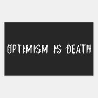 Optimism is Death Rectangular Sticker