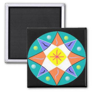 Optimism Mandala Square Magnet