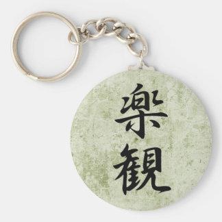 Optimism - Rakkan Basic Round Button Key Ring