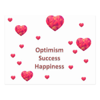 Optimism Success Happiness Postcard