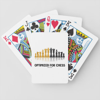 Optimized For Chess (Reflective Chess Set) Bicycle Playing Cards