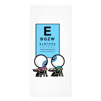 Optometrist Rack Cards with Eye Chart