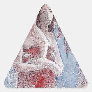 Orana Maria (Hail Maria) by Paul Gauguin Triangle Sticker