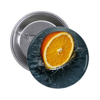 Orange 6 Cm Round Badge