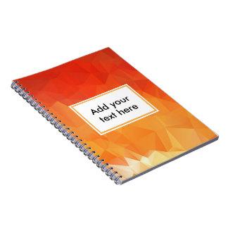 Orange Abstract  Spiral Notebook