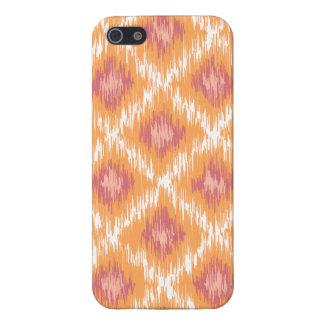 Orange Abstract Tribal Ikat Chevron Diamond Pattrn iPhone 5/5S Cases
