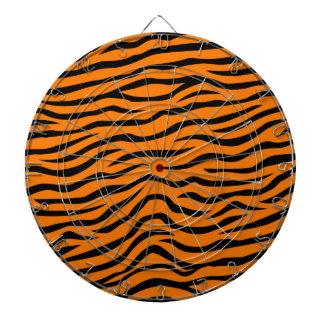 Orange and Black Animal Print Tiger Stripes Dartboard