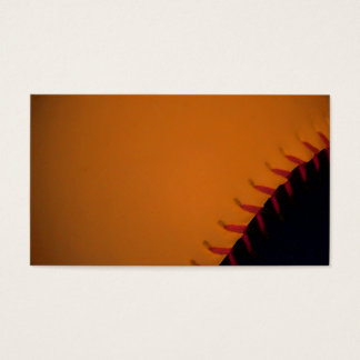 Orange and Black Baseball / Softball Business Card