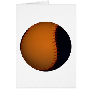 Orange and Black Baseball / Softball Card