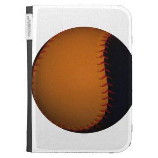 Orange and Black Baseball Softball Kindle 3G Cases