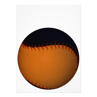 Orange and Black Baseball Softball Personalized Invitation