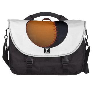 Orange and Black Baseball Softball Laptop Computer Bag