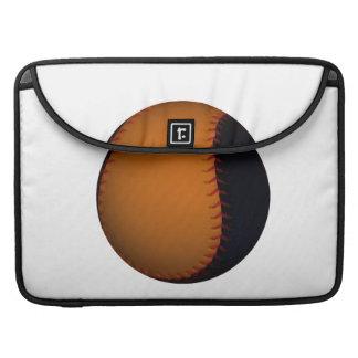Orange and Black Baseball Softball MacBook Pro Sleeve