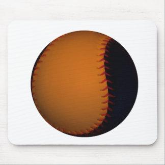 Orange and Black Baseball / Softball Mouse Pad