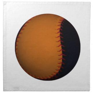 Orange and Black Baseball Softball Printed Napkins