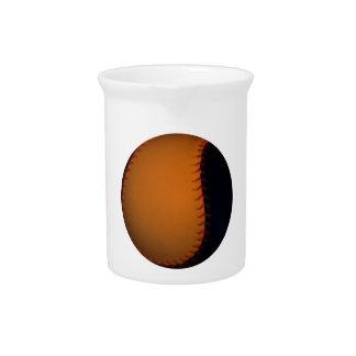Orange and Black Baseball Softball Drink Pitcher