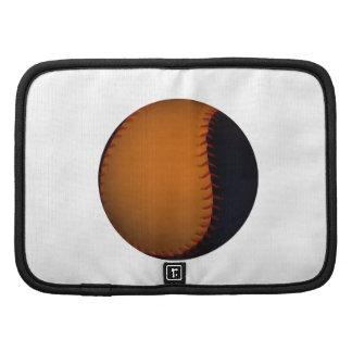 Orange and Black Baseball Softball Folio Planner