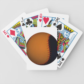 Orange and Black Baseball Softball Bicycle Playing Cards