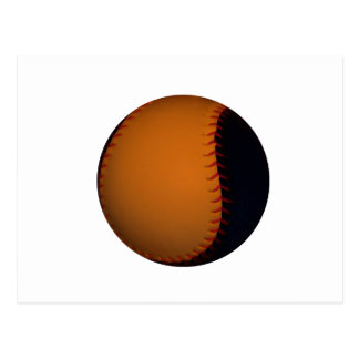 Orange and Black Baseball Softball Post Card