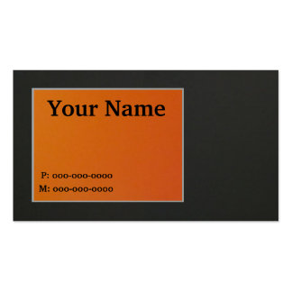 Orange and Black Business Card Template