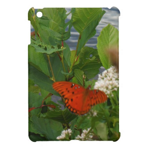 Orange and Black Butterfly at the Lake iPad Mini Cases