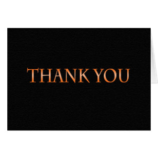 Orange and Black Class 2014 Thank You Card