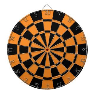 Orange And Black Dartboard