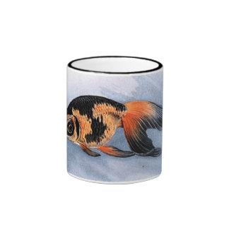 orange and black fish ringer mug