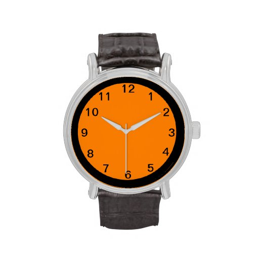 Orange and Black--Not Just for Halloween Wrist Watches