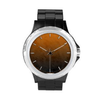 Orange and Black Ombre Grunge Wristwatch