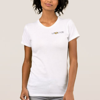 Orange and Black on White Tee Shirt
