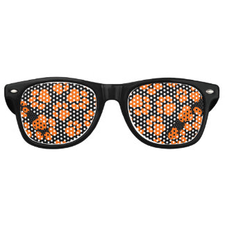 Orange-and-Black Paw Print Party Shades