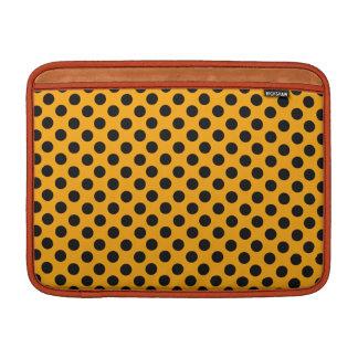 Orange and Black Polka Dots Sleeves For MacBook Air