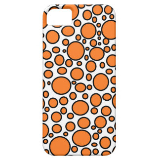 Orange and Black Polka Dots iPhone Case iPhone 5 Case