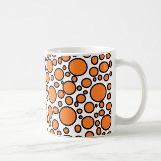 Orange and Black Polka Dots Mug