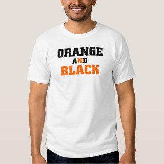 Orange And Black Shirt