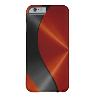 Orange and Black Stainless Steel Metal Barely There iPhone 6 Case