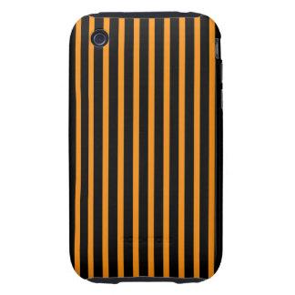 Orange and Black Stripes iPhone 3 Tough Cases