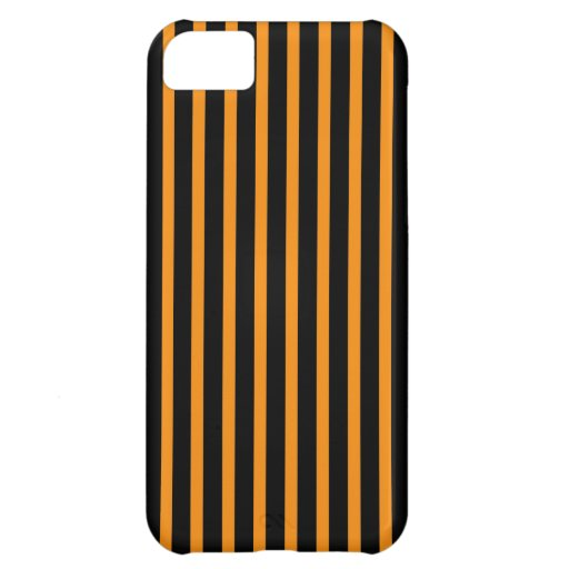 Orange and Black Stripes Cover For iPhone 5C